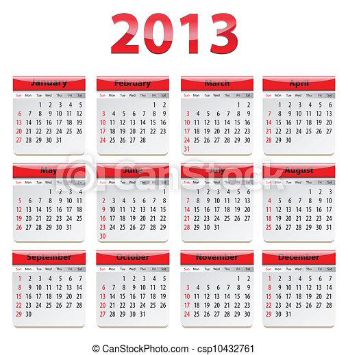 calendario,  2013 - csp10432761