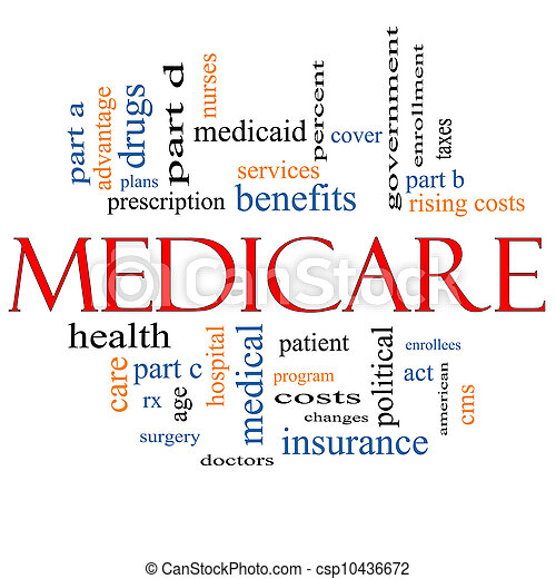 Medicare, conceito, palavra, nuvem - csp10436672