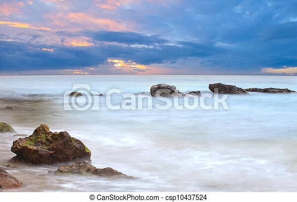 soft feeling of sunset at dusk - csp10437524