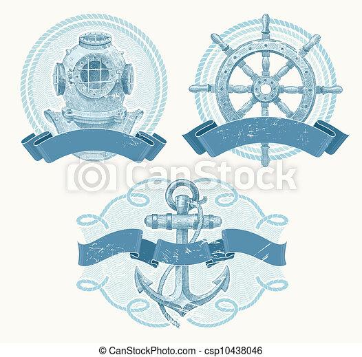 Vintage Nautical Vector Nautical Vector Vintage