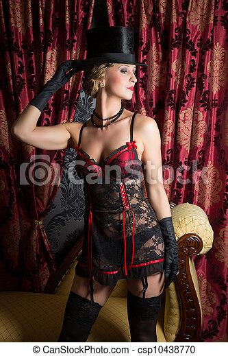 Sexy show girl - csp10438770