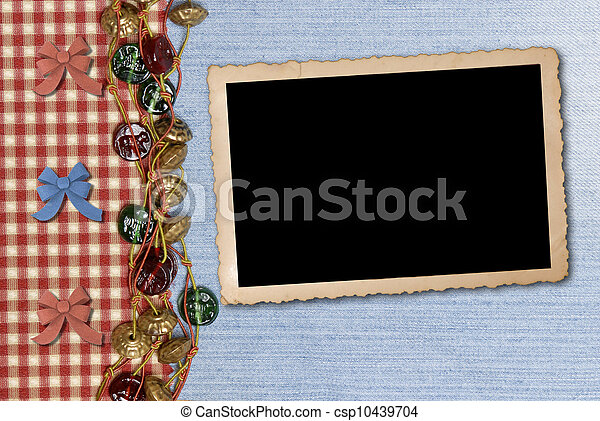 photo frame on retro background - csp10439704