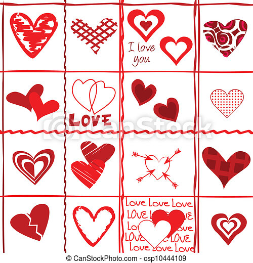 Valentine's Day card, wrapping paper - csp10444109