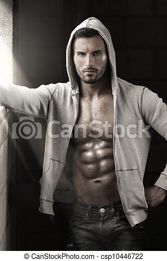 Sexy guy with abs - csp10446722