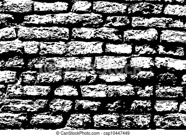 brick wall drawing black and white eps vector of grunge white and black brick wall background 313