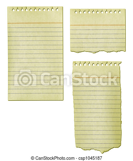Ripped Paper Collection Old Notepad - csp1045187
