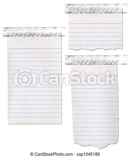 Ripped Paper Notebook With Tape - csp1045189