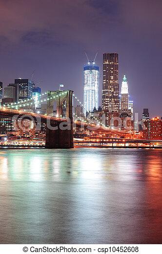New York City Brooklyn Bridge - csp10452608