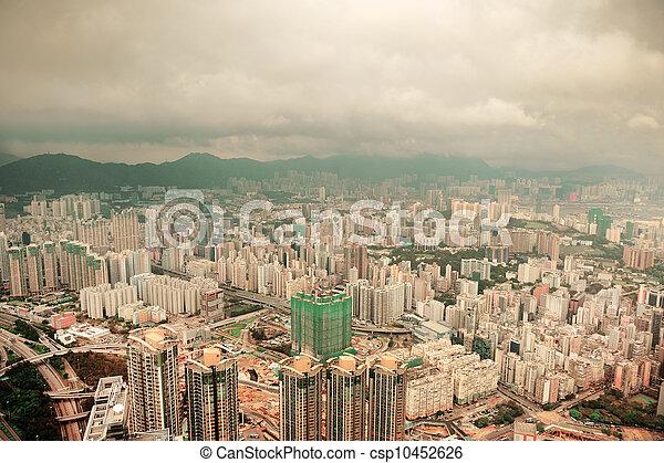 Hong Kong aerial view - csp10452626