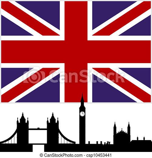 Eps vector de inglaterra nacional bandera y el - Dibujo bandera inglesa ...