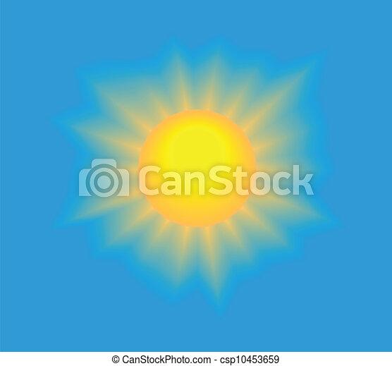 Sun Shining Drawing Shining Sun on Blue Sky