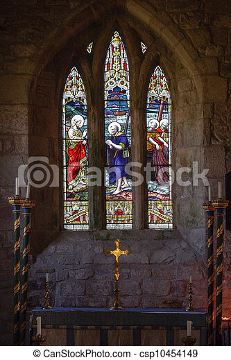 Church Alter and Window - csp10454149