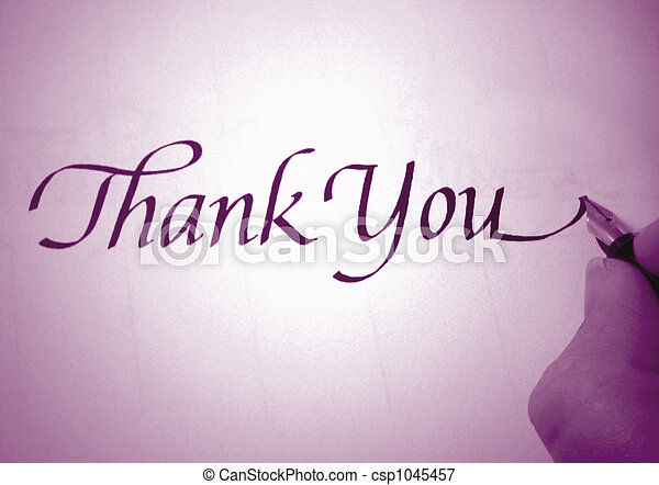 callligraphy thank you - csp1045457
