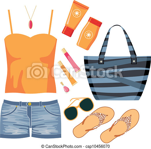 Fashionset of summer clothes - csp10456070