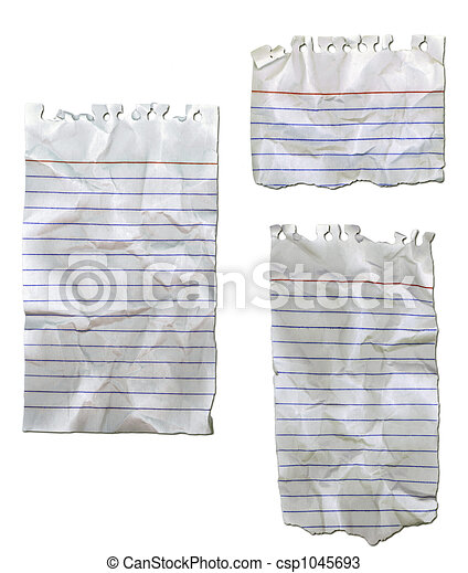 Ripped Paper Wrinkled - csp1045693