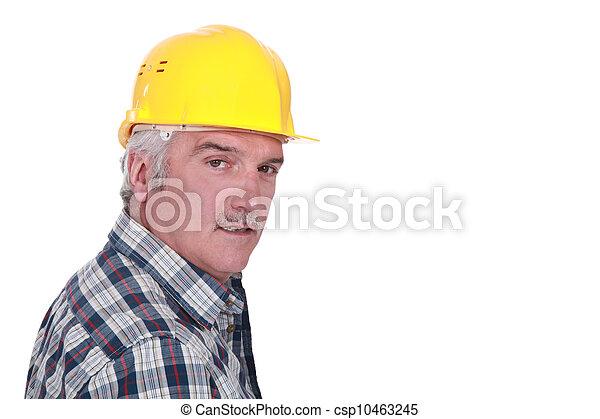 Portrait of a construction foreman - csp10463245