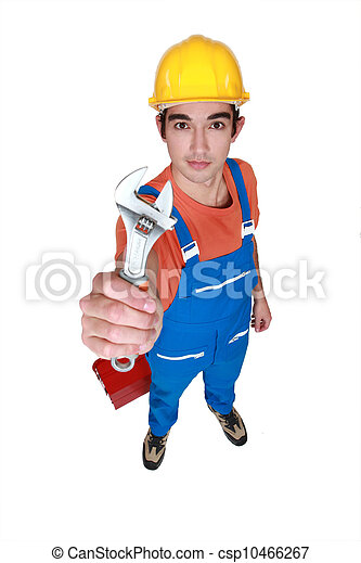 Worker with a spanner - csp10466267