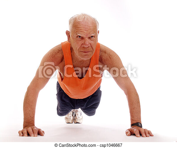 Senior Push-Ups - csp1046667