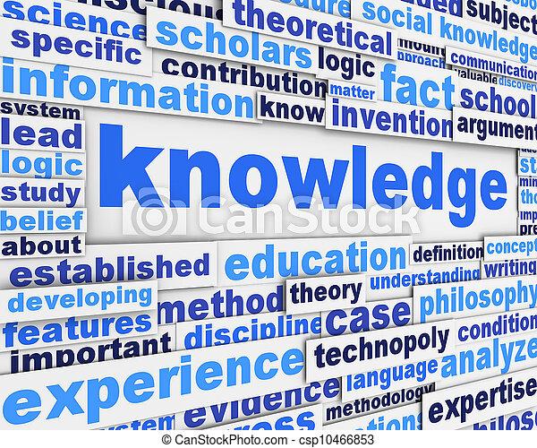 Knowledge poster design - csp10466853