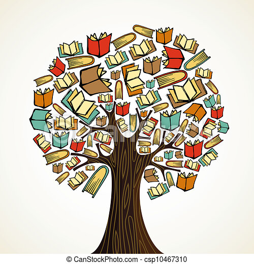 Education concept tree with books - csp10467310