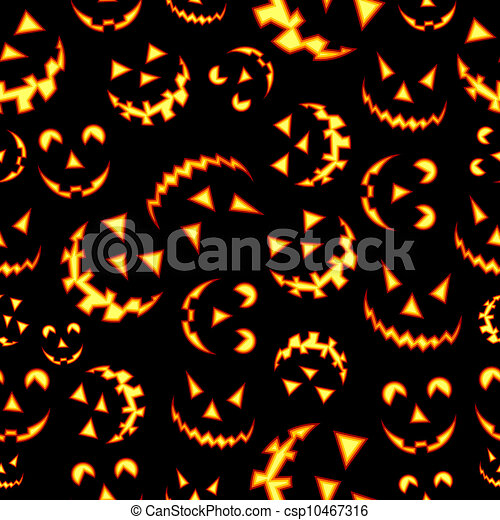 Halloween terror background pattern - csp10467316