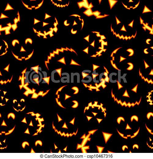 Halloween terror background pattern - csp10467316