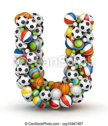 U Alphabet Images Stock Illustration of Letter U, gaming balls alphabet - Letter U ...