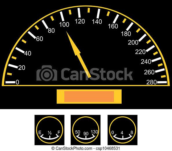 vecteurs de voiture compteur vitesse speedometer sur les voiture csp10468531. Black Bedroom Furniture Sets. Home Design Ideas