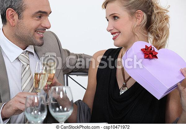 Man full of romantic gestures - csp10471972