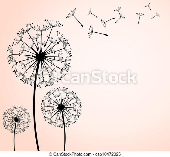 Illustration vecteur de pissenlit les vecteur - Dessin fleur pissenlit ...