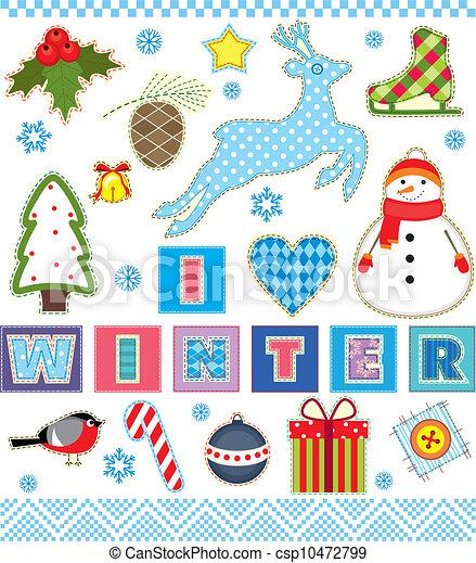 Winter Set Textile Element - csp10472799