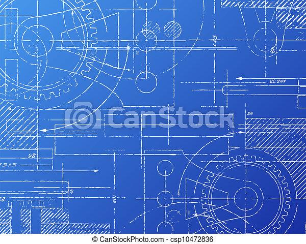Blueprint Vector Drawings Blueprint Csp10472836