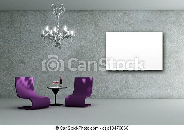 lounge room interior - csp10476666