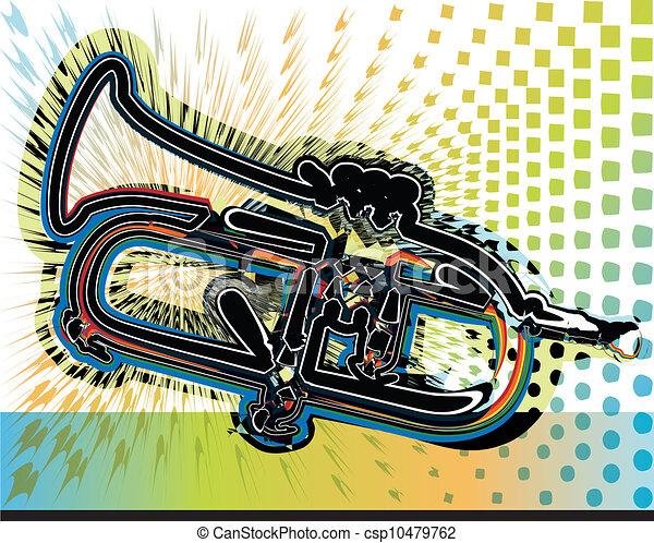 Music instrument illustration - csp10479762