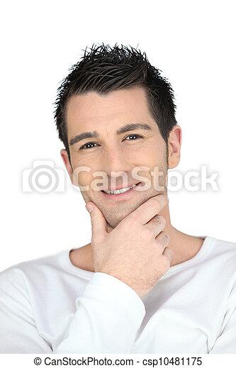 image de portrait cheveux brun homme csp10481175 recherchez des photographies des photos. Black Bedroom Furniture Sets. Home Design Ideas