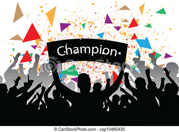 Cheering crowd Clipart and Stock Illustrations. 2,123 Cheering ...