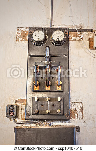stock photography of old high power switch retro image. Black Bedroom Furniture Sets. Home Design Ideas