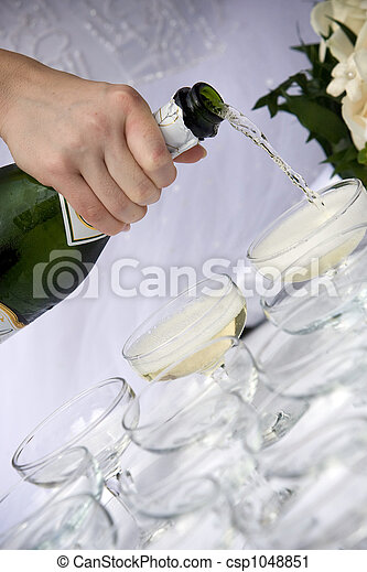 champagne toast - wedding - csp1048851