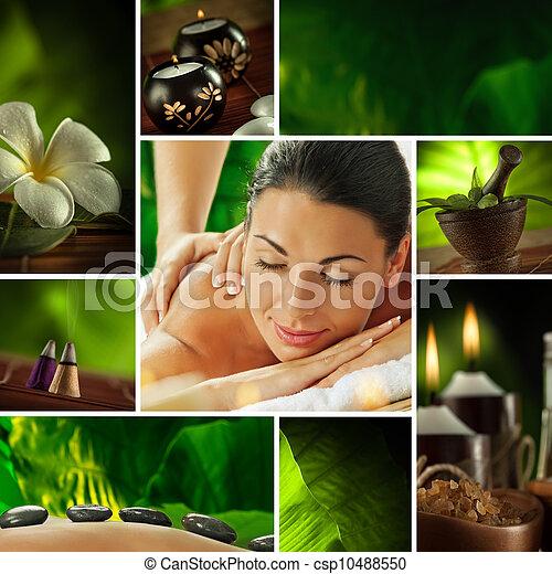 spa collage - csp10488550