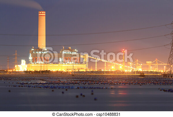 Fossil Fuel Coal Burning Electrical Power Plant - csp10488831