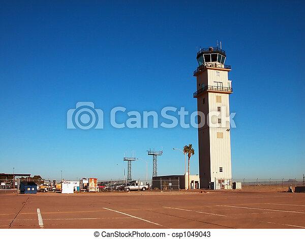 Airport Tower & Tramac - csp1049043