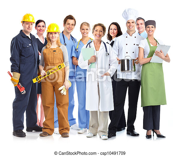 Group of industrial workers. - csp10491709