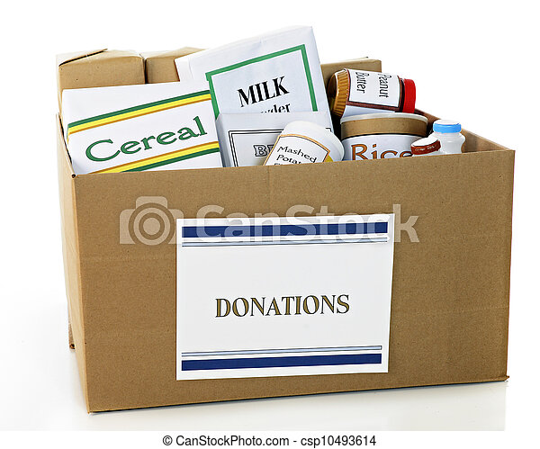 Food Donation Box - csp10493614