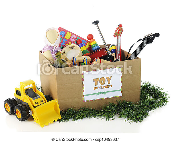 Wohltätigkeit, Weihnachten, Spielzeuge - csp10493637