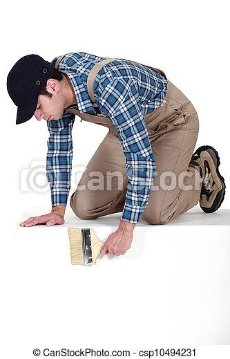 Banco de fotos de decorador perscrutar sobre borda - Decorador de fotos ...