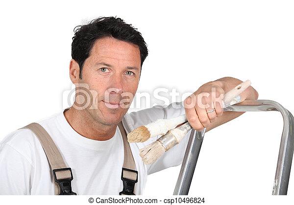 Stock fotos de un pintor decorador propensi n contra - Decorador de fotos ...