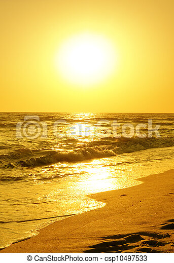 sunrise over the sea - csp10497533
