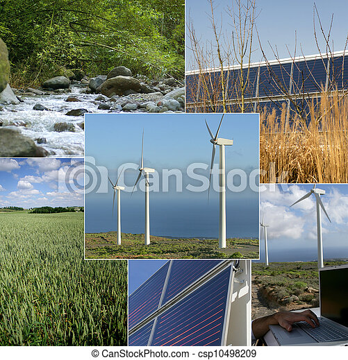 Images of sustainable energy and the environment - csp10498209
