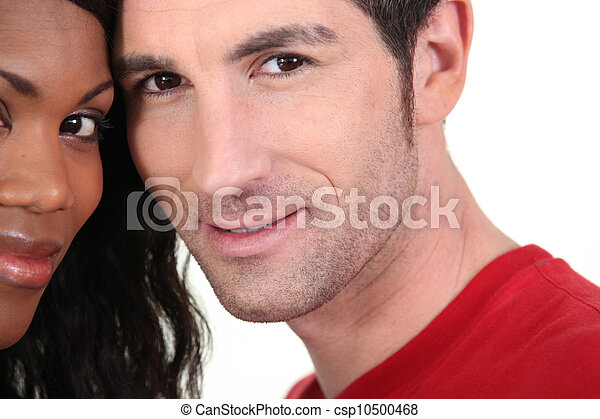 mixed couple in love - csp10500468