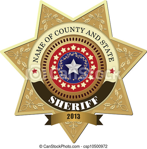 of Sheriff's badge on a white background csp10500972 - Search Clipart ...